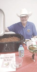 Swartz Creek Kiwanis President Robert Kowalski entered a no-bean chili recipe inspired by authentic Texas blends. Photos by Lania Rocha
